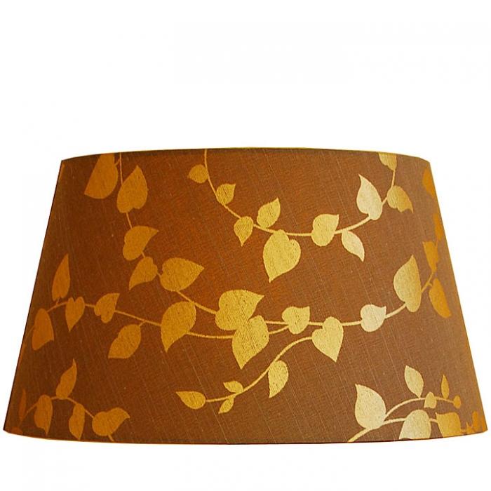 Light & Living Lampenschirm SENZA ORO Ø 40cm braun mit goldenen Blättern rund für E27 Fassung LL2040325 2040325 8717807030018