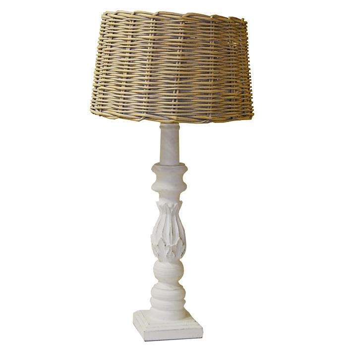 light living tischlampe riberac h82cm holz antik weiss. Black Bedroom Furniture Sets. Home Design Ideas