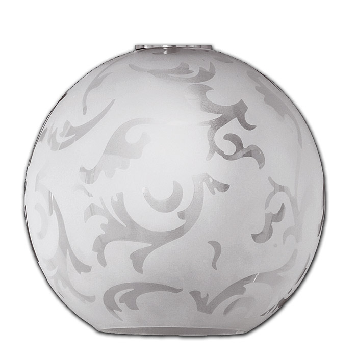 Trio Ersatzglas 9787 Lampenglas für Pendelleuchte Kugelleuchte 372910107,  4017807178982 mit Ornamentik, 4017807177282
