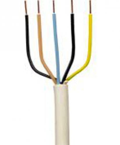 5,0m NYM-J 5x2,5 mm² Kabel Installationsleitung - Kabelrest zum Sonderpreis