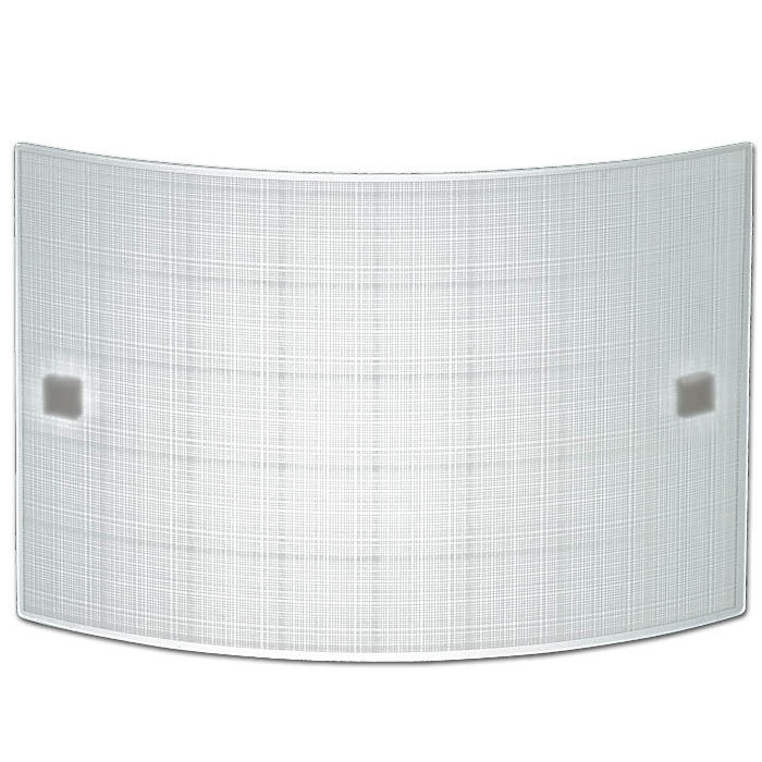 Trio Ersatzglas 92503 Glas 30cm x 20cm weiß mit Linien für Wandleuchte 203500100