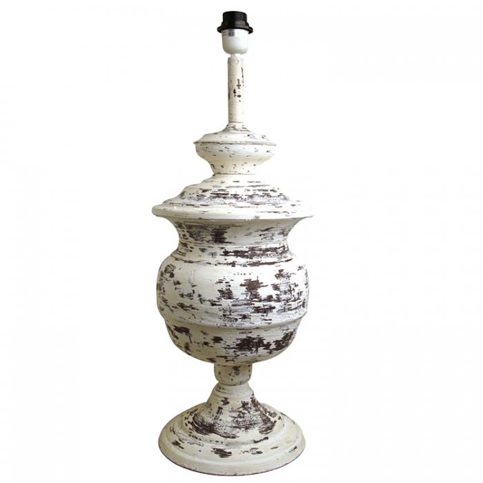 Light & Living Lampenfuß BERAHT H70cm antik weiss Nostalgie Vintage Shabby Look als Tischlampe oder Stehlampe 8151873 8717807074654