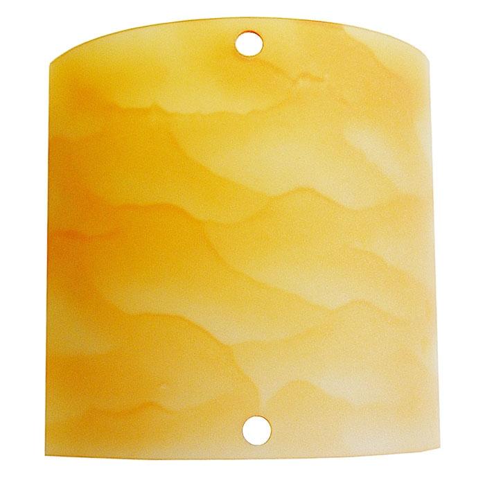 Trio Ersatzglas 9327-24 Glas 20x20cm alabaster amber für Wandleuchte MARTA 2523011-24