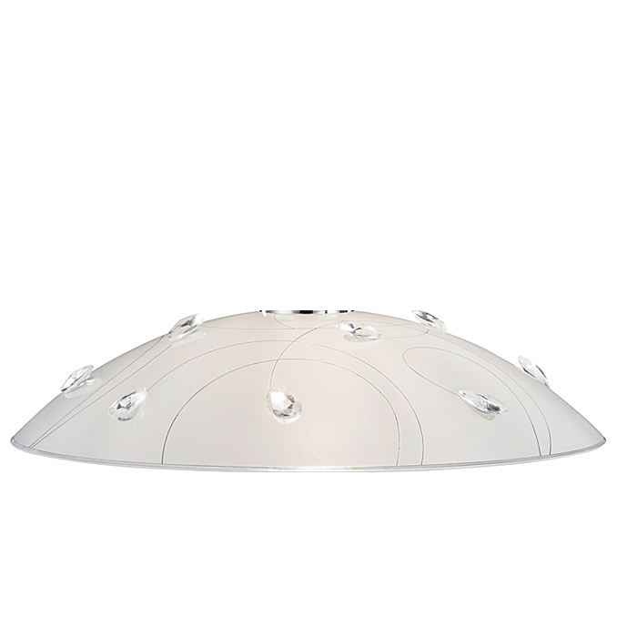 Trio Ersatzglas 92780 Lampenglas für Pendelleuchte Carbonado 302400106 Ø 43cm E27 4017807301045