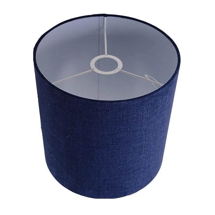 Lampenschirm Zylinder 25-25-25 cm SAHARA blau Stoff E27 für Tisch u. Stehleuchte u. für Pendelleucht