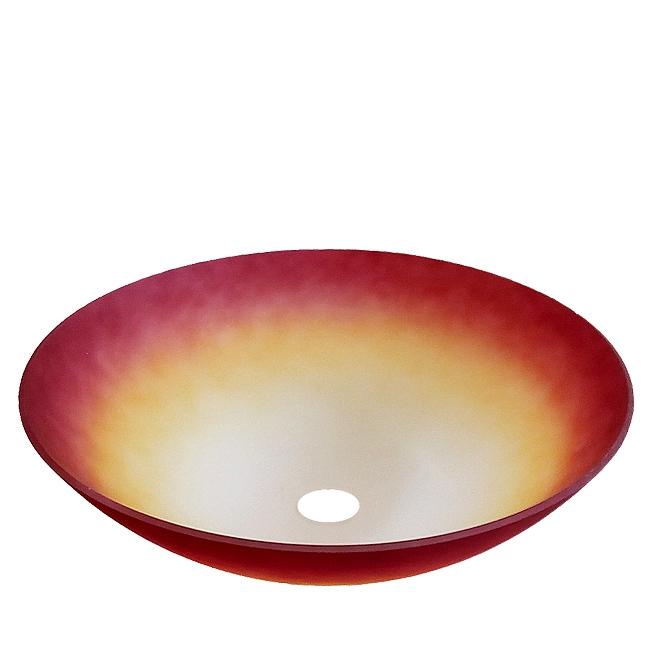 Ersatzglas 9390-17 für Stehleuchte mit E27 Glasschirm Farbverlauf weiß-orange großes Lampenglas Ø 38cm Glasschale für E27 Fassung für Pendelleuchte 3410011-17 Trio-Lighting Arnsberg