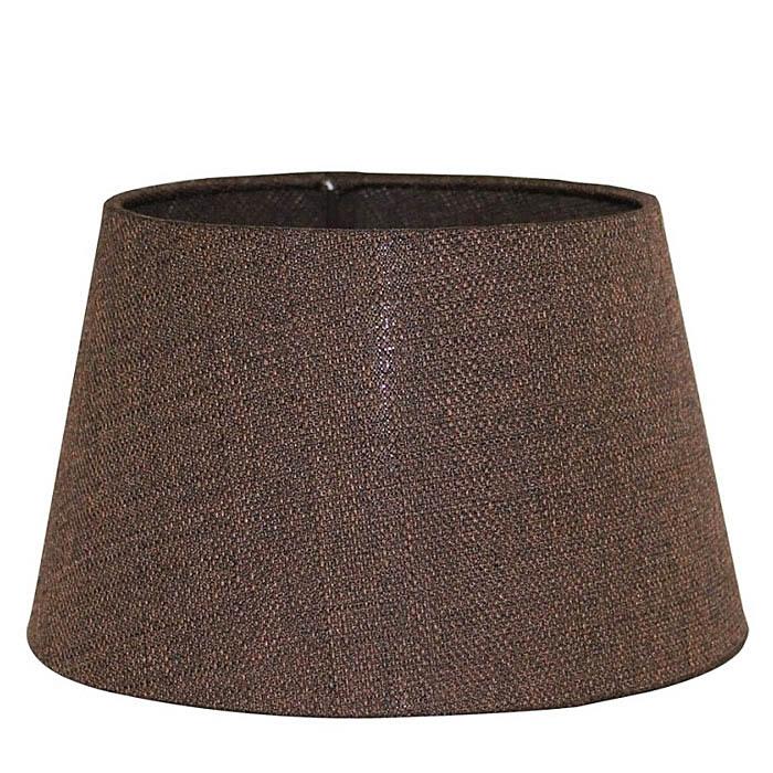 Light & Living Lampenschirm SAFIRA rund Ø 35cm dunkel braun transparent für E27