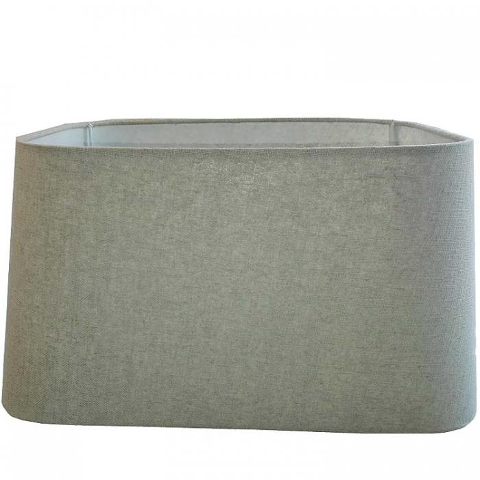 Light & Living Lampenschirm rechteckig 40-33-21 cm ALMERIA grau für E27 Fassung Stoffschirm für Stehlampe und Tischeuchte geeignet - 4741007  8717807067908