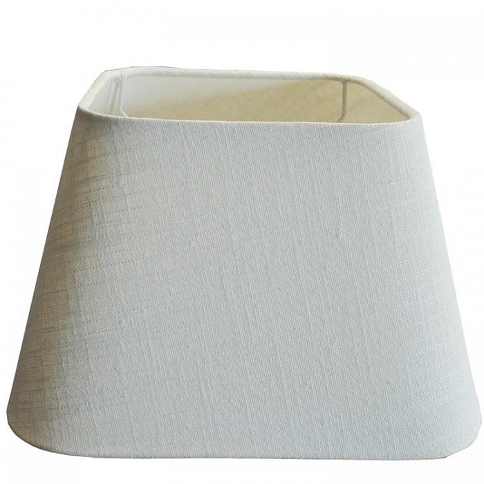 Light & Living Lampenschirm viereckig runde Ecken 25cm  Leinen weiß 4924348 - 8717807055875