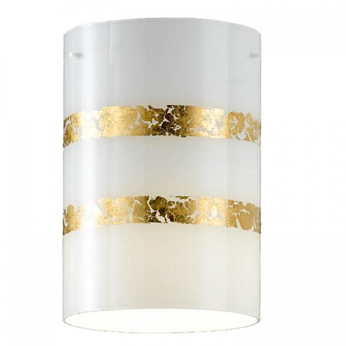 Trio Ersatzglas 92925-79 für Pendelleuchte NIKOSIA Glasschirm weiß mit goldfarbigen Streifen zu 308700179 und Glas zu 308700379 Glasabdeckung Ersatzschirm zu 4017807385366 4017807385403
