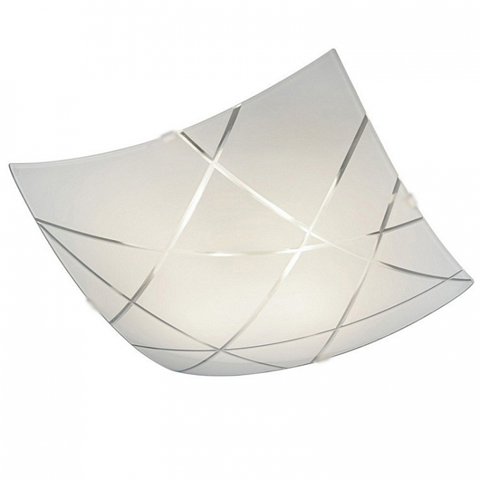 Trio Ersatzglas 92669-40 Glas weiß mit Facettenschliff für Deckenleuchte 626710406