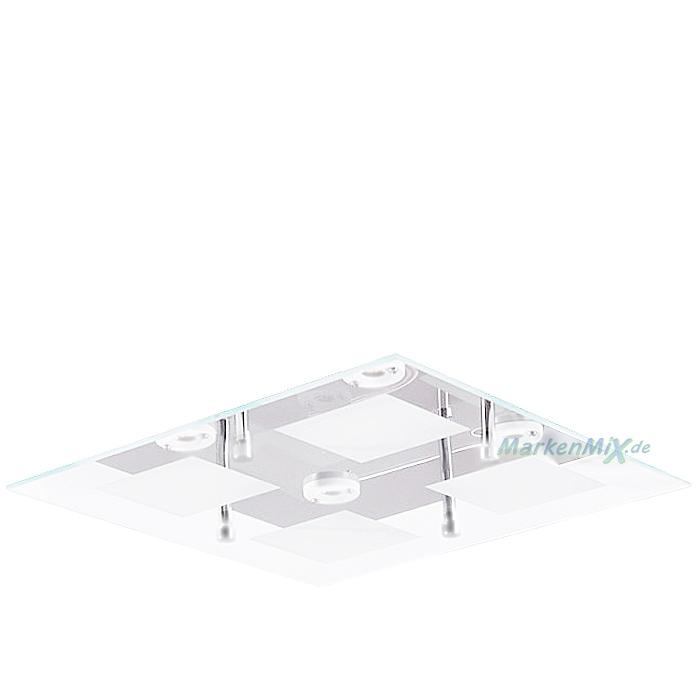 Trio Ersatzglas Lampenglas 26x26cm Glasscheibe für LED Deckenleuchte Antonio 627910406 Glasschirm 4017807273151 Glaskuppel 4017807261691 ANTONIO