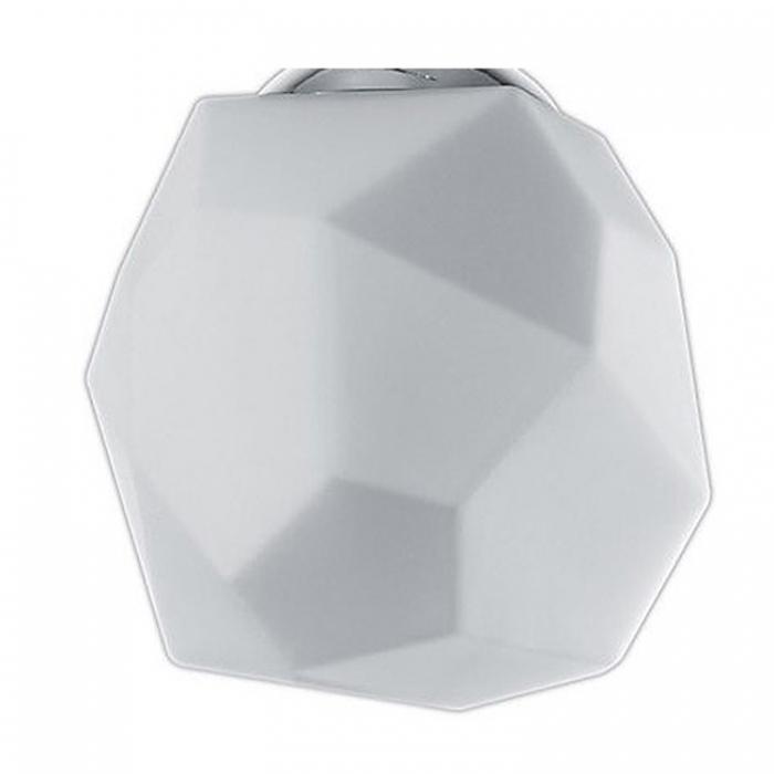 Trio Ersatzglas 92713-20 Lampenglas weiß in Diamantenform Glasschirm für Pendelleuchte Balkenpendel 305300301 Glashaube Lampenschirm Glaskuppel