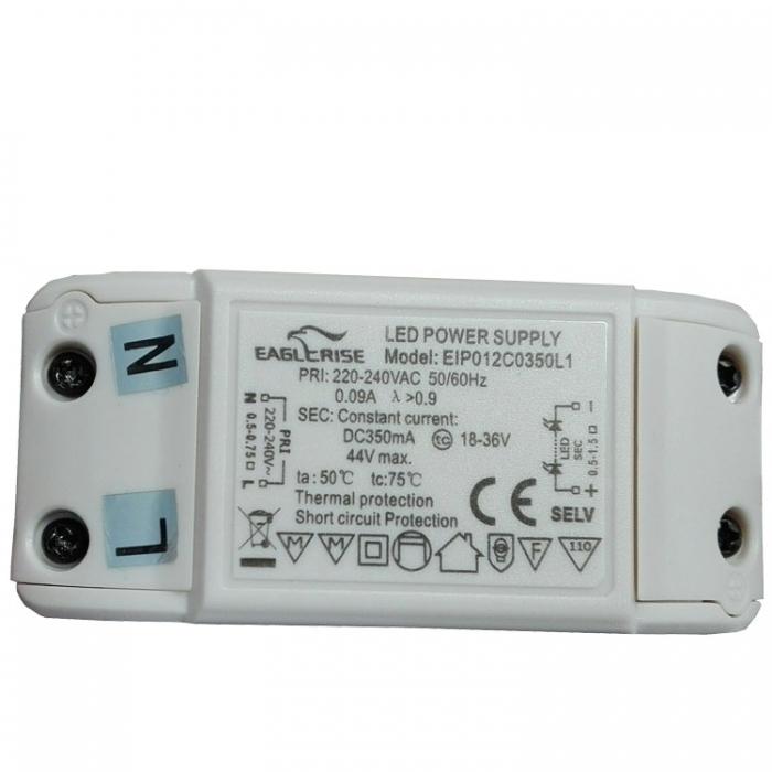 Eaglerise EIP012C0350L1 LED Power Supply Treiber Trafo 18-36V 350mA  Ersatztrafo eip012c0350l1 Ersatzteil z.B. für Esto Leuchte Nova 761001-4
