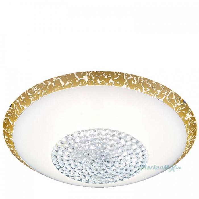 Trio Ersatzglas 92834-40 Lampenglas weiß / gold Ø 40cm Glas für Deckenleuchte Comtess 656211800 Glasschirm 4017807381771 Ersatzschirm Lampenschirm Abdeckglas