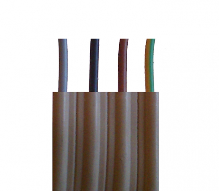 50m Ring NYIF-J 4x1,5 mm² Stegleitung Flachkabel Flachleitung  4020704200144