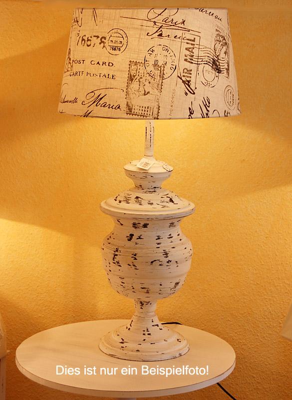 light living lampenfu beraht h70cm antik weiss nostalgie vintage shabby look als tischlampe. Black Bedroom Furniture Sets. Home Design Ideas