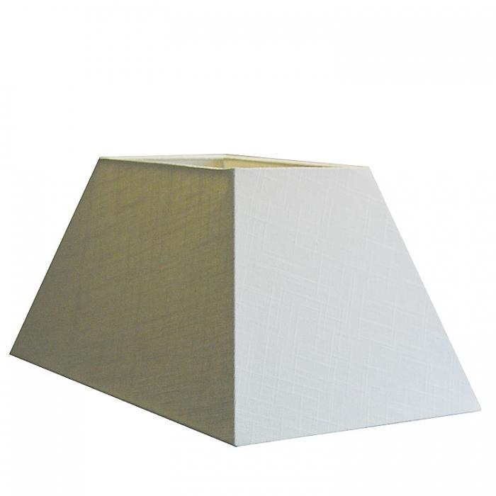 Light & Living Lampenschirm rechteckig schräg 45x25x22cm Leinen weiss Lampenschirm aus Stoff sehr edel