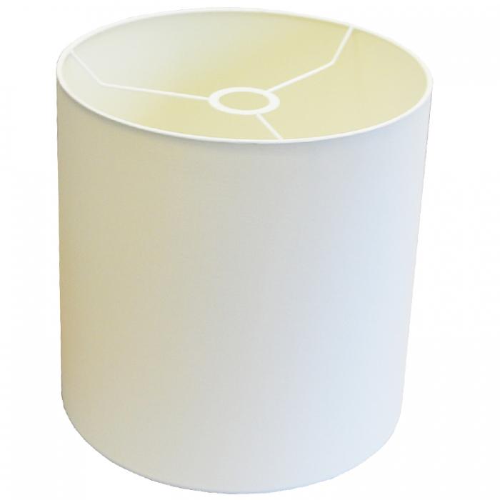 Light & Living Lampenschirm Zylinder 30-30-30 cm SAHARA weiß POLYCOTTON E27 für Tischlampe Stehleuchte u. Pendelleuchte 2231676