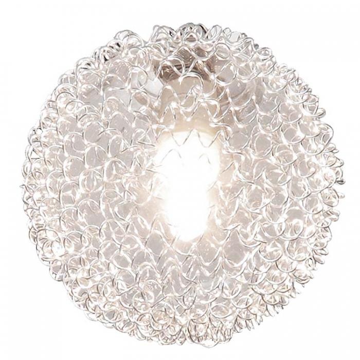 Reality Ersatzglas für Deckenleuchte R613211506 Glasball klar mit Aludrahtgeflecht und Schraubring Ersatzlampenschirm Ersatzlampenglas  4017807222210  Trio-Lighting Arnsberg 4017807220537
