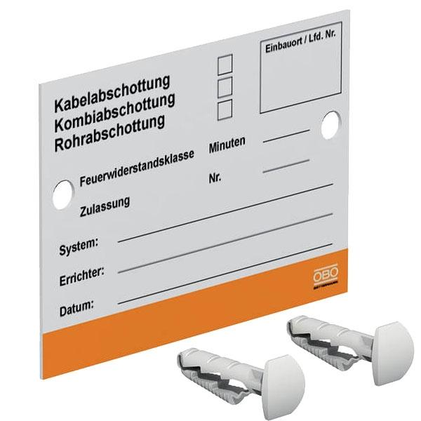 OBO PYROSIT Kennzeichnungsschild KS-S für Abschottungs-Systeme