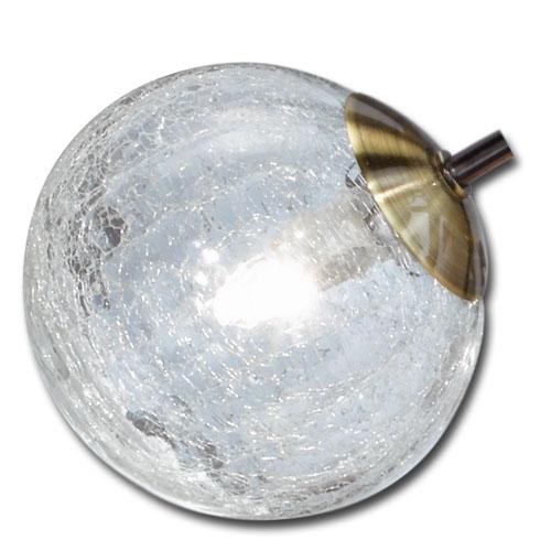 Trio Ersatzglas 92256 Krakelee Lampenglas zur Serie 613310604 613311004  613310606 613311006