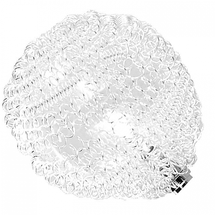 Trio Ersatzglas Ø 7cm für Deckenleuchte  631911506 631912106 Glasball mit Aludrahtgeflecht 4017807194715
