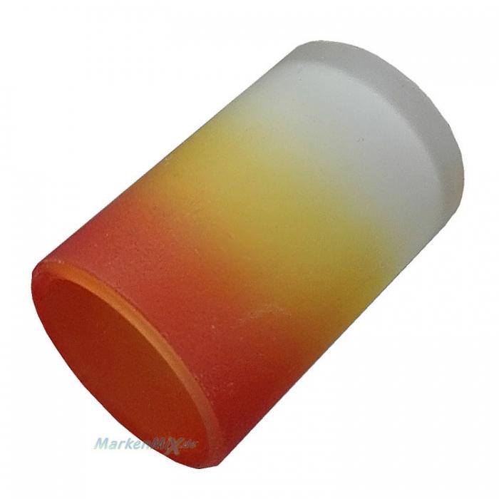 Ersatzglas Trio 9421 Lampenglas Glas orange gelb weiss für Tischleuchte 5436031-07 Glasschirm 4017807105124 Lampenschirm  Glashaube Abdeckglas