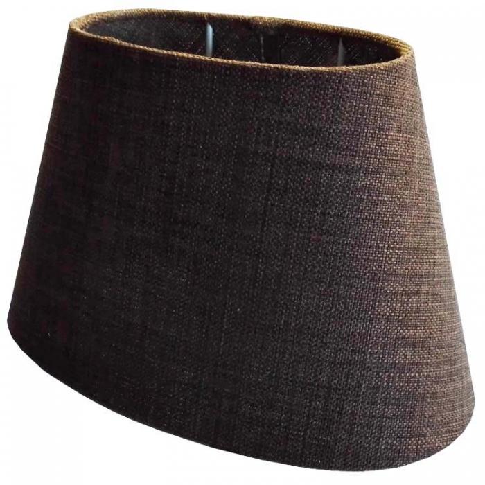 Light & Living Lampenschirm SAFIRA oval dunkel braun transparent für E27