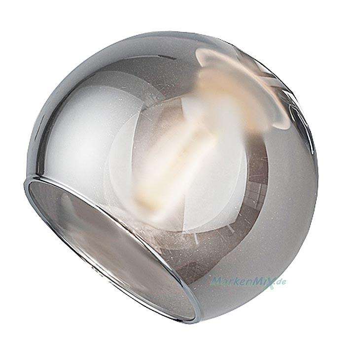 Reality Ersatzglas rauchfarbig smoke zur Serie Brest R60595006 Kugelglas R80594006 Glasglocke R80593006 Glaskugel  R80591006 Glaskörper R80592006 Ersatzschirm Lampenschirm Glashaube Trio-Lighting Arnsberg