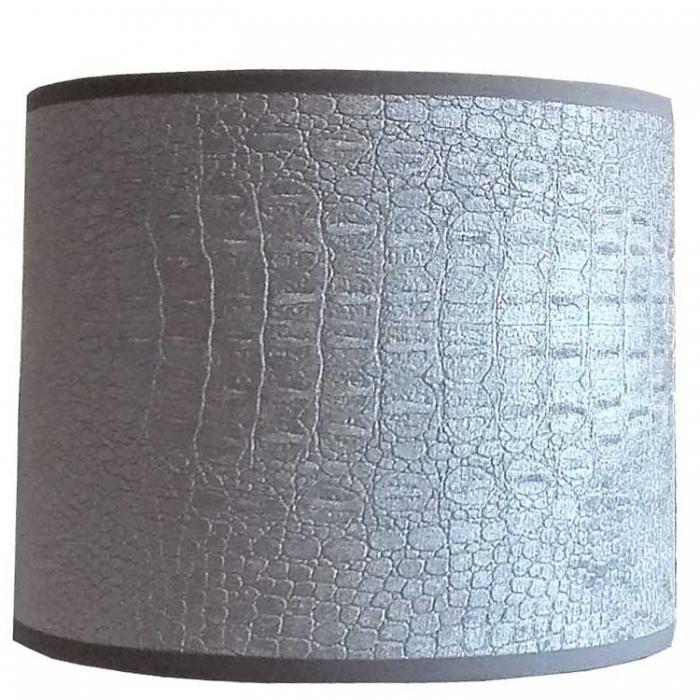 Light & Living Lampenschirm Zylinder 18-18-15 cm CHELSEA velours silber E27 für Tisch- u. Wandleuchte 2218057 8717807083045