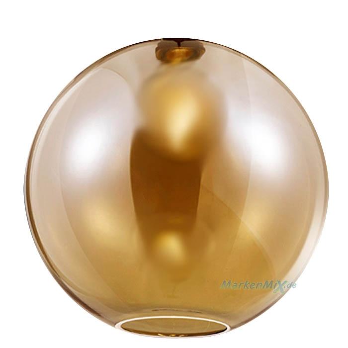 Reality Ersatzglas G3077-13 Glasschirm amberfarbig amber Ø 30cm Kugelglas für Pendelleuchte Dino R30771004 Ersatzlampenglas 4017807466003 Ersatzschirm Glaskugel  zu 4017807465938 Trio-Lighting Arnsberg Reality Leuchten
