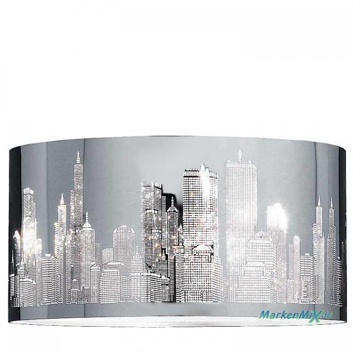 Trio Ersatzschirm aus Metall mit Laser-Cut Skyline Metallschirm für Pendelleuchte CAPITAL 308400206 Lampenschirm Capital Trio-Lighting Arnsberg 4017807240191