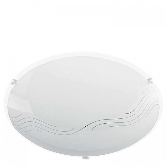 Trio Ersatzglas Ø 25cm für Deckenleuchte Nora 602100100 Glascheibe weiß glänzend 4017807230642  4017807223569