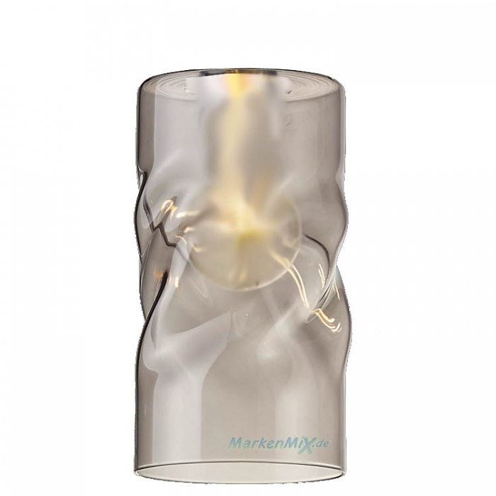 Reality Ersatzglas G3053-54 rauchfarbig smoke Glasschirm für Pendelleuchte Swirl R30531054 R30533017 R30533917 Ersatzlampenglas 4017807405774 Ersatzschirm 4017807405804 Glaszylinder zu Trio-Lighting Arnsberg Reality Leuchten 4017807405811 4017807416855