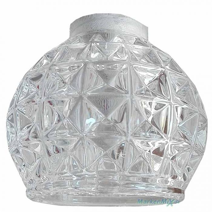 Eglo Ersatzglas GL2864 mit Kristalloptik NUR passend für LED Hängeleuchte Hania1 Balkenpendel 92344 Glasschirm Ersatzteil zu Hania 1 Schutzglas Lampenglas 9002759923440