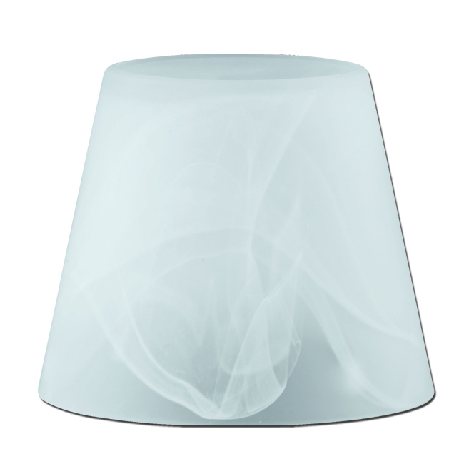 Ersatzglas 9610-00 Lampenglas für Trio Tischleuchte 595500107/08/24 alabaster weiss