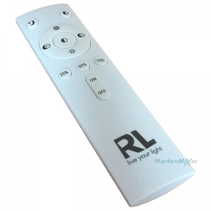RL Reality Leuchten Ersatz-Funk-Fernbedienung RF6296-00 Remote-control für LED Leuchten-Serien Akina R67541101 Magnolia R62720101 LUKIDA R62961001 R62961000 ATRIA R67045800 R67041900 Ersatzteil Reality-RL-Trio-Lighting Arnsberg 4017807401783 4017807426427