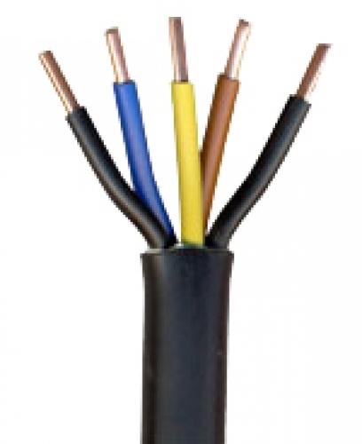 6,0m NYY-J 5x6 mm² Erdkabel PVC Kabel schwarz - Kabelrest zum Sonderpreis