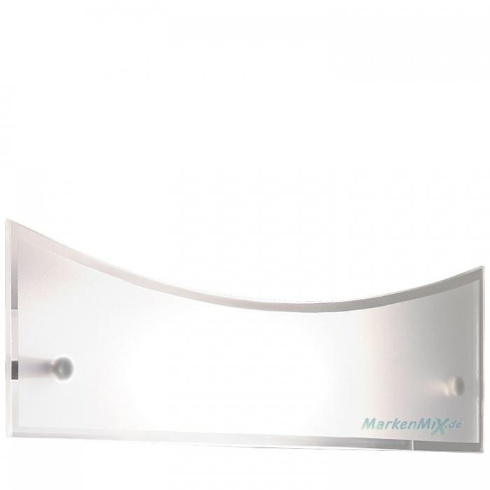 Trio Ersatzglas 92416 Glascheibe für LED Wandleuchte 222510206 Glasschirm 36x9cm satiniert mit klarem Rand Trio-Lighting Arnsberg 4017807220490, 4017807220506,