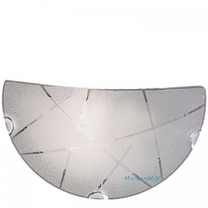 Trio Ersatzglas für Wandleuchte Sandrina 201200100 Glascheibe mit Kristalleffekt 4017807406887 4017807398632