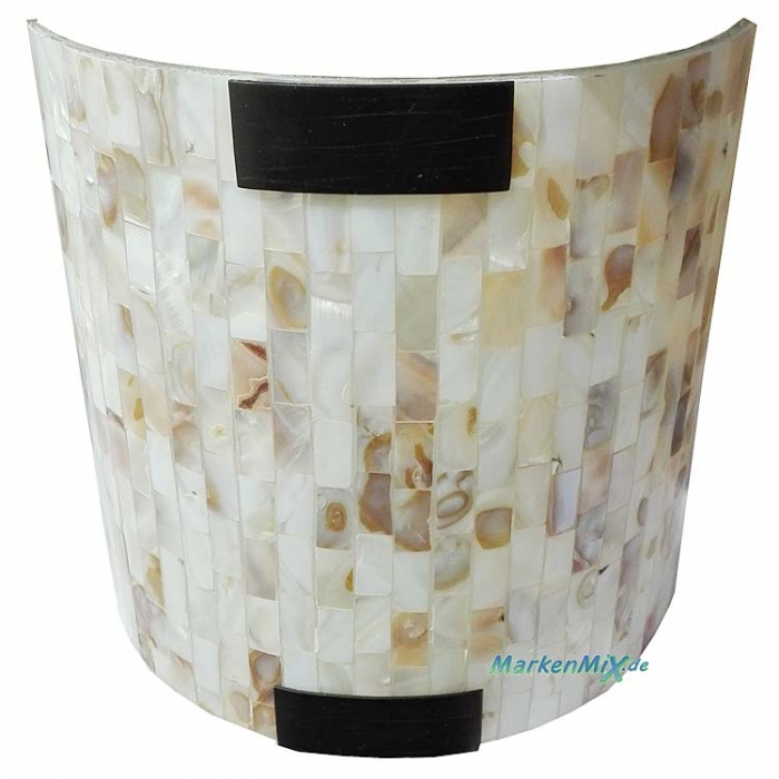 Trio Ersatzglas 9693 Glasschirm mit Perlmuttoptik für Wandleuchte 200800124 Perlmutt-Optik Glasscheibe 20x20cm 4017807167252 Glasabdeckung 4017807169850 Glashaube Trio-Lighting Arnsberg