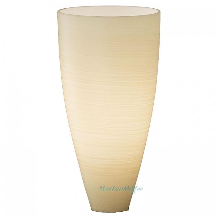Trio Ersatzglas 9671-16 Lampenglas cremefarbig gewischt für Tischleuchte 570910116 Glasschirm 4017807161175 Lampenschirm  Glashaube 4017807168464 Abdeckglas