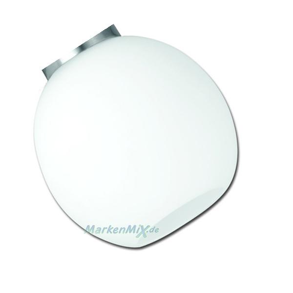 Ersatzglas weiß Glasschirm für Trio Leuchte Strahler Fred Steckdosenleuchte 891770107 Ersatzschirm Lampenschirm 4017807368987 Lampenglas 4017807358162 Glashaube Abdeckglas