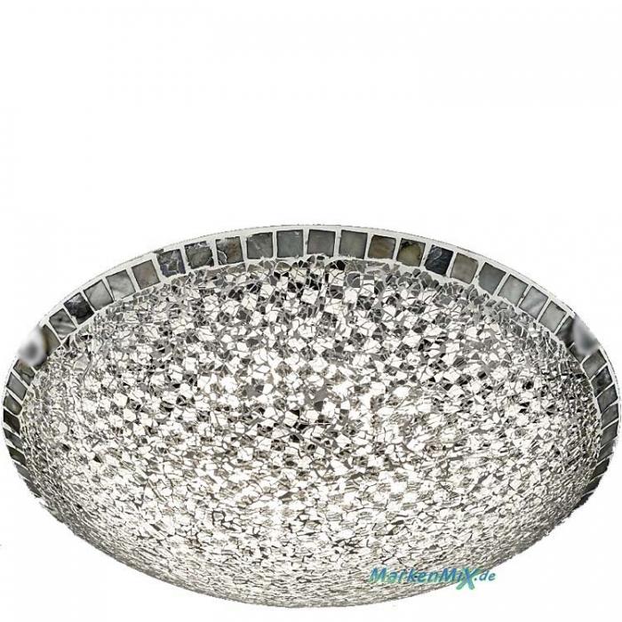Trio Ersatzglas 92811-40 Lampenglas Ø 40cm Glasschirm silberfarbig Mosaique-Glassteine für LED Deckenleuchte Mosaique Glasschale 673012489 Glasteller MOSAIQUE 4017807368925 Trio-Lighting Arnsberg 4017807337464