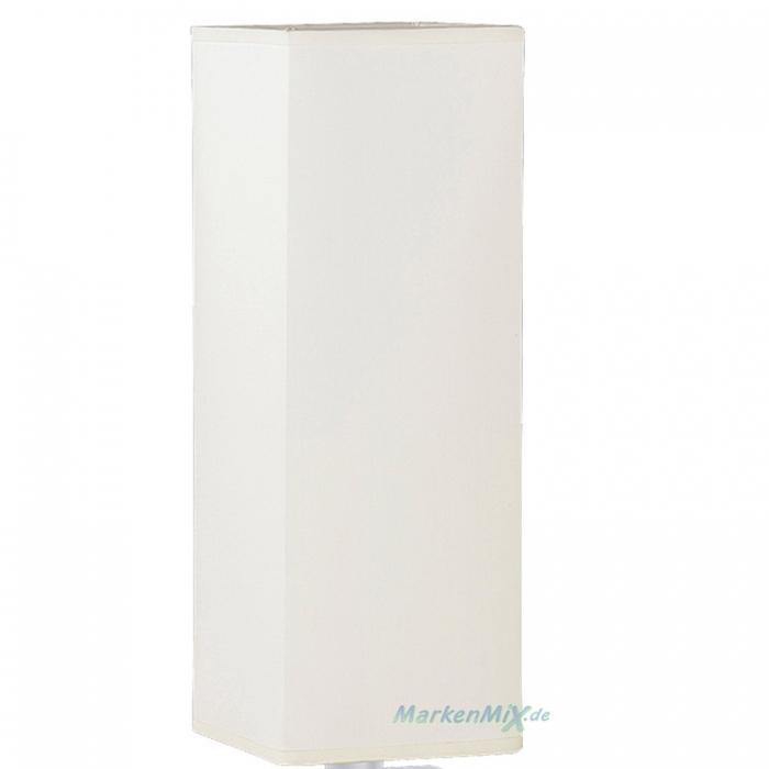 Stoffschirm weiß eckig 30 x 11cm für Trio Tischleuchte Piet 5914011-01  Ersatzschirm Lampenschirm aus Stoff 4017807209440  4017807150445 Ersatzlampenschirm