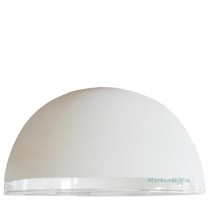 Reality Leuchten Ersatzglas G30511001 Glasschirm  Ø 15,5cm weiß Rand klar für Pendelleuchte R30513007 R30512007 R30511007 4017807239997