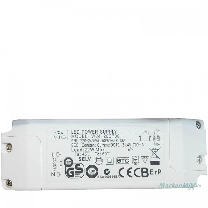 VIG W24-20C700 LED Power Supply Treiber 22W / DC19..31,4V / 700mA Netzteil z.B.für Trio 321410406