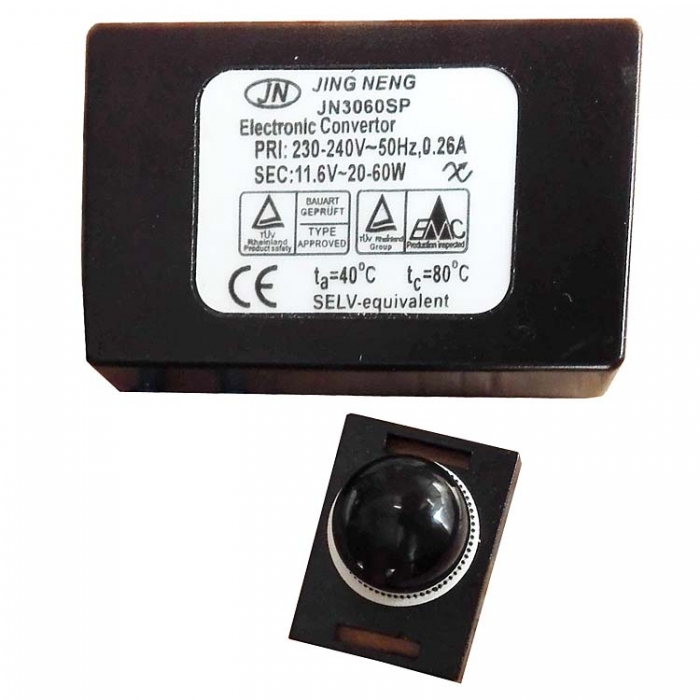 Jing Neng JN3060SP Halogen Trafo Dimmer Electronic Convertor 220-240V  11.6V~, 20-60W z.B. für Trio Wandleuchte 2640231-24