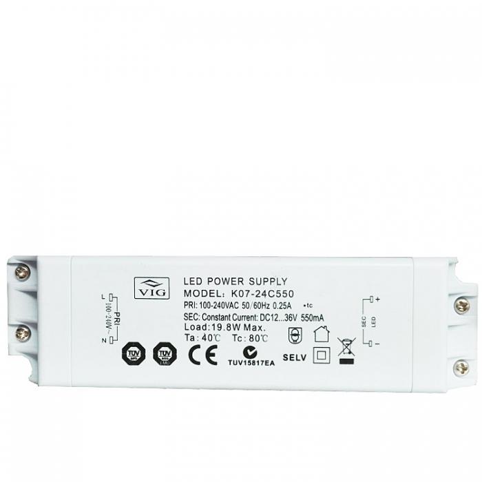 VIG K07-24C550 LED Treiber Trafo Power Supply 12-36V 550mA z.B. für Sorpetaler Melissa 700260
